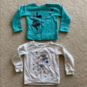 Twin Girls - Minnie Mouse sweaters teal and cream